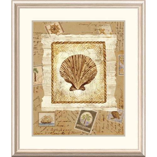 Global Gallery Ship To Shore Shells Ii By Lisa Ven Vertloh, 32 X 28-Inch Wall Art