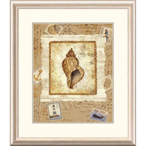 Global Gallery Ship To Shore Shells III By Lisa Ven Vertloh, 28 X 24-Inch Wall Art