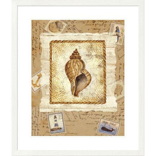Global Gallery Ship To Shore Shells III By Lisa Ven Vertloh, 32 X 28-Inch Wall Art