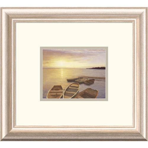 Global Gallery Boats At Dock By Diane Romanello, 13 X 15-Inch Wall Art