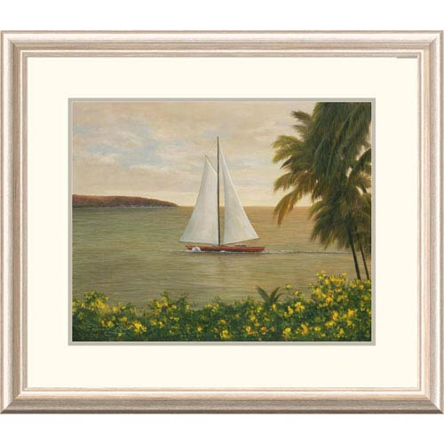 Global Gallery Harbor Sunset By Diane Romanello, 24 X 28-Inch Wall Art