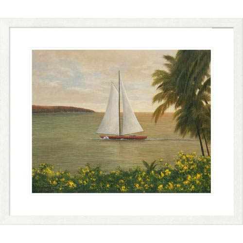 Global Gallery Harbor Sunset By Diane Romanello, 28 X 32-Inch Wall Art