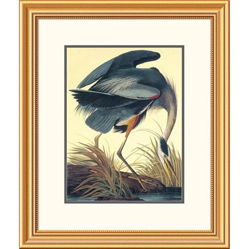 Global Gallery Great Blue Heron By John James Audubon, 26 X 22-Inch Wall Art