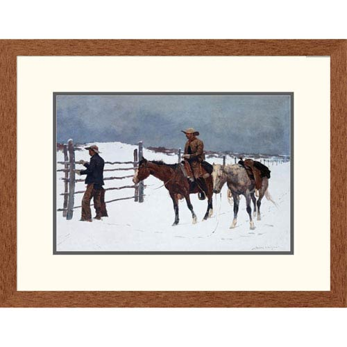 Global Gallery The Fall Of The Cowboy By Frederic Remington, 20 X 26-Inch Wall Art