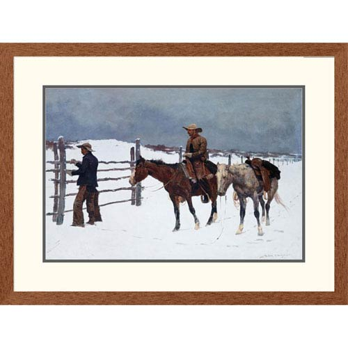 Global Gallery The Fall Of The Cowboy By Frederic Remington, 24 X 32-Inch Wall Art