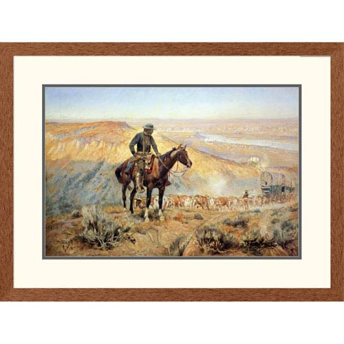 Global Gallery The Wagon Boss By Charles M. Russell, 24 X 32-Inch Wall Art