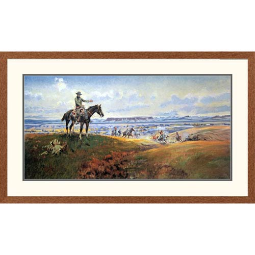 Global Gallery C. M. Russell And His Friends By Charles M. Russell, 26 X 44-Inch Wall Art