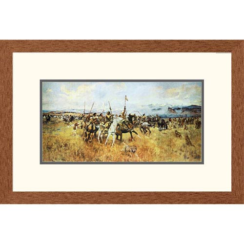 Global Gallery Lewis And Clark Meeting The Flatheads By Charles M. Russell, 16 X 24-Inch Wall Art