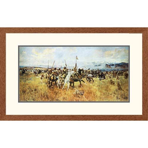 Global Gallery Lewis And Clark Meeting The Flatheads By Charles M. Russell, 20 X 32-Inch Wall Art