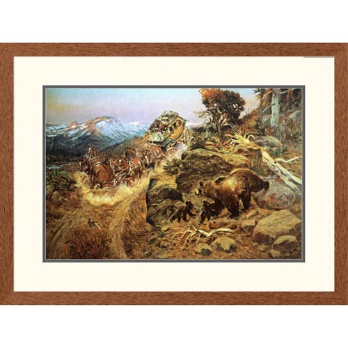 Global Gallery Bruin Not Bunny By Charles M. Russell, 24 X 32-Inch Wall Art