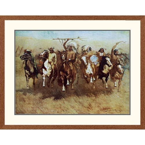Global Gallery Victory Dance By Frederic Remington, 32 X 40-Inch Wall Art