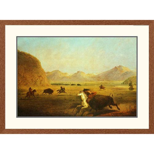 Global Gallery Buffalo Hunt By Alfred J. Miller, 28 X 38-Inch Wall Art