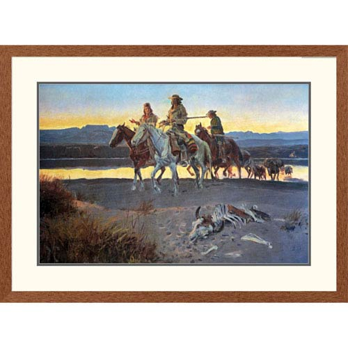 Global Gallery Carsons Men By Charles M. Russell, 28 X 38-Inch Wall Art
