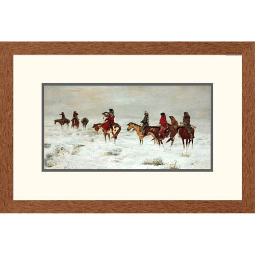 Global Gallery Lost In A Snowstorm We Are Friends By Charles M. Russell, 16 X 24-Inch Wall Art