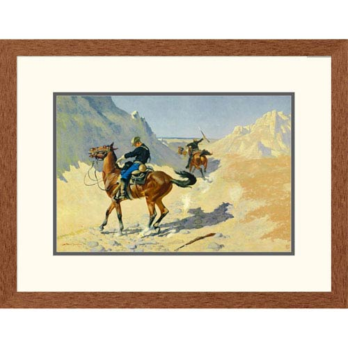 Global Gallery The Advance Guard By Frederic Remington, 20 X 26-Inch Wall Art