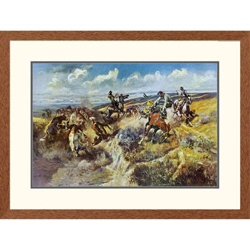Global Gallery A Tight Dally And A Loose Latigo By Charles M. Russell, 24 X 32-Inch Wall Art