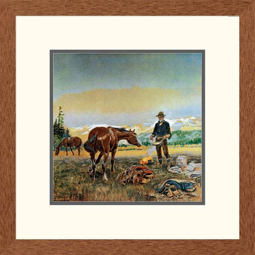 Global Gallery Partners By Charles M. Russell, 20 X 20-Inch Wall Art