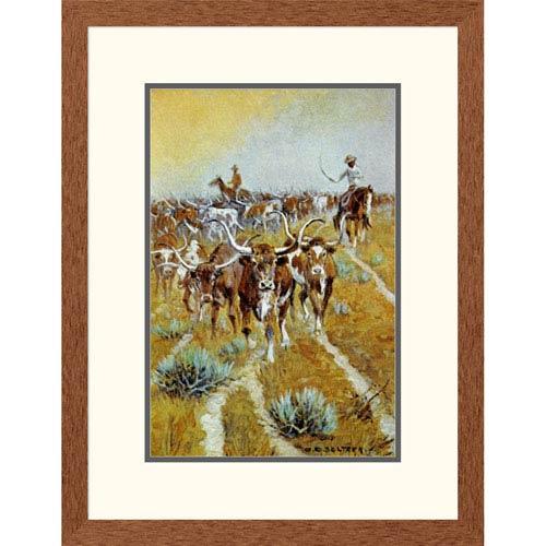 Global Gallery Texas Longhorns By Olaf C. Seltzer, 26 X 20-Inch Wall Art