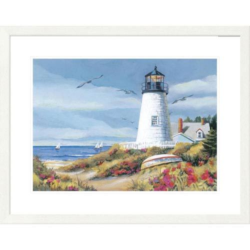 Global Gallery Lighthouse Harbor I By Kathleen Denis, 26 X 32-Inch Wall Art