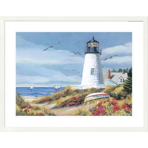 Global Gallery Lighthouse Harbor I By Kathleen Denis, 32 X 40-Inch Wall Art