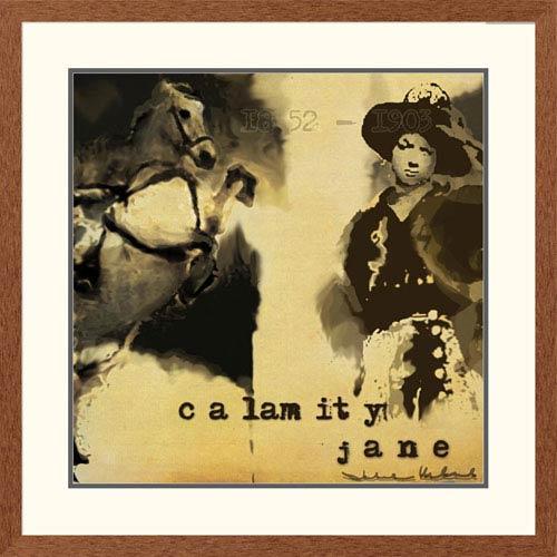 Global Gallery Calamity Jane By Julie Ueland, 32 X 32-Inch Wall Art