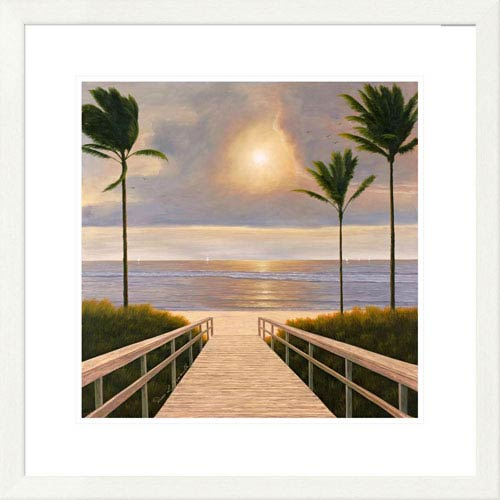 Global Gallery Palm Winds By Diane Romanello, 26 X 26-Inch Wall Art