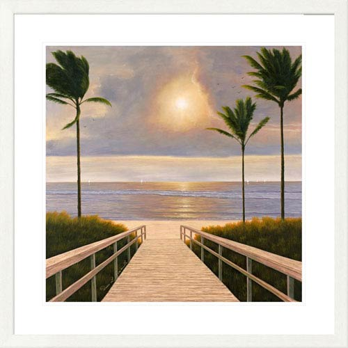 Global Gallery Palm Winds By Diane Romanello, 32 X 32-Inch Wall Art