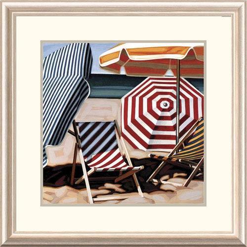 Global Gallery July Beach By Kristen Funkhouser, 26 X 26-Inch Wall Art
