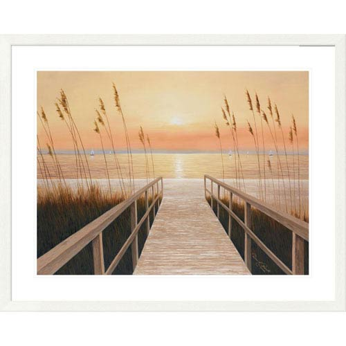 Global Gallery Walkway To Sea By Diane Romanello, 32 X 40-Inch Wall Art
