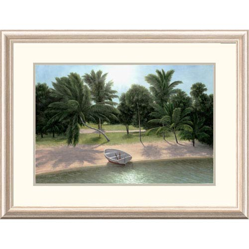 Global Gallery Lakeside Palms By Diane Romanello, 24 X 32-Inch Wall Art