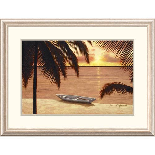 Global Gallery Amber Palms By Diane Romanello, 24 X 32-Inch Wall Art