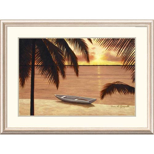 Global Gallery Amber Palms By Diane Romanello, 28 X 38-Inch Wall Art