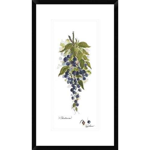 Global Gallery Blueberries By Peggy Abrams, 26 X 14-Inch Wall Art