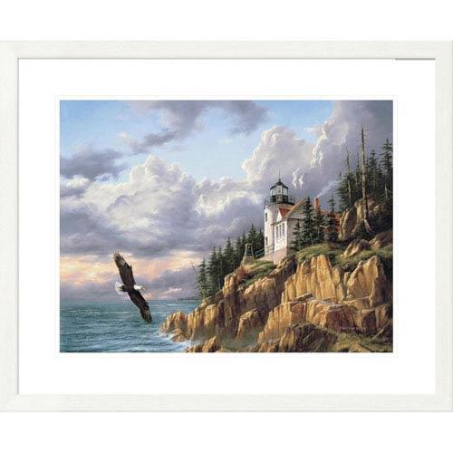 Global Gallery Bass Harbor Head Lighthouse By Rudi Reichardt, 26 X 32-Inch Wall Art