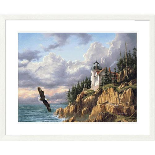 Global Gallery Bass Harbor Head Lighthouse By Rudi Reichardt, 30 X 36-Inch Wall Art
