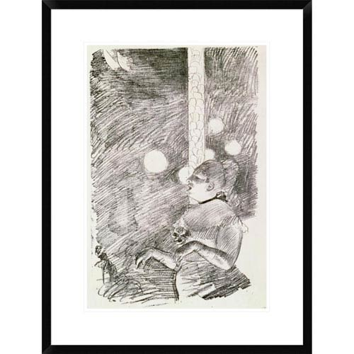 Global Gallery The Song Of The Dog By Edgar Degas, 28 X 21-Inch Wall Art