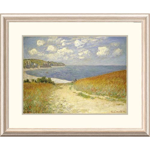 Global Gallery Path Through The Wheat Fields At Pourville, 1882 By Claude Monet, 24 X 30-Inch Wall Art