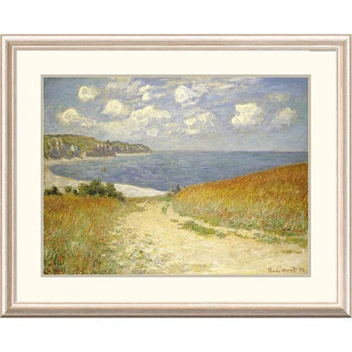Global Gallery Path Through The Wheat Fields At Pourville, 1882 By Claude Monet, 30 X 38-Inch Wall Art