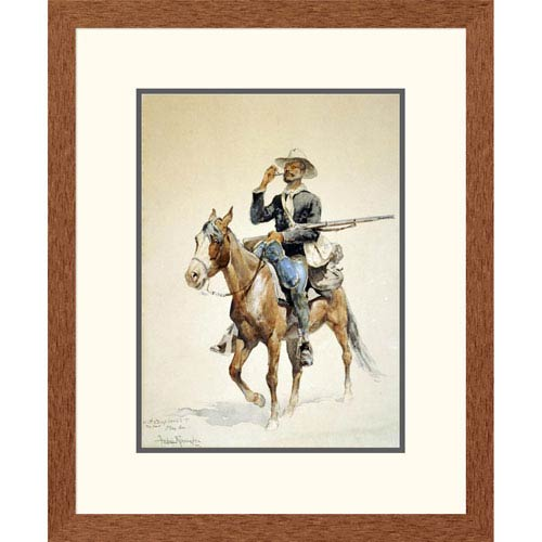 Global Gallery A Mounted Infantryman By Frederic Remington, 24 X 19-Inch Wall Art