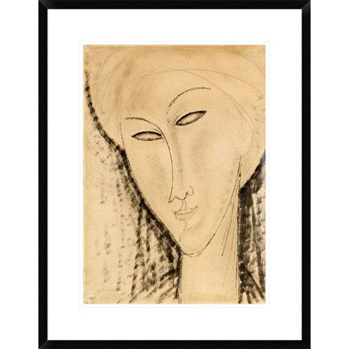Global Gallery Tete De Femme By Amedeo Modigliani, 28 X 21-Inch Wall Art