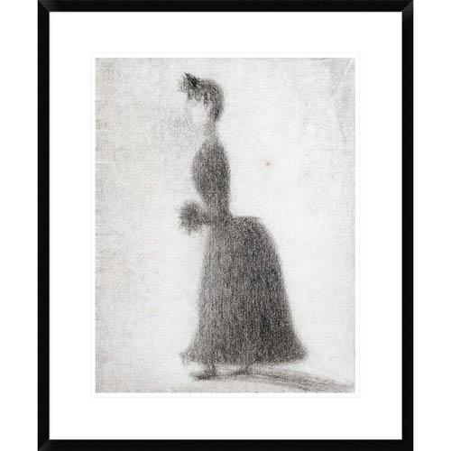 Global Gallery La Promeneuse Au Manchon By Georges Seurat, 28 X 23-Inch Wall Art