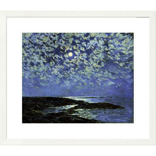 Global Gallery Moonlight, Isle Of Shoals By Childe Hassam, 25 X 30-Inch Wall Art