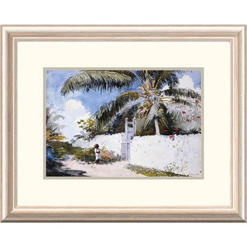 Global Gallery A Garden In Nassau By Winslow Homer, 19 X 24-Inch Wall Art