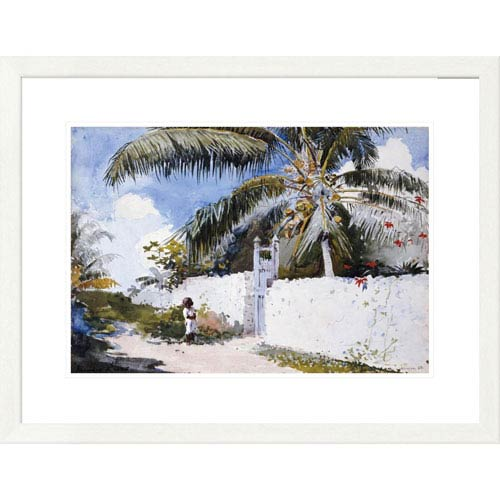 Global Gallery A Garden In Nassau By Winslow Homer, 23 X 30-Inch Wall Art