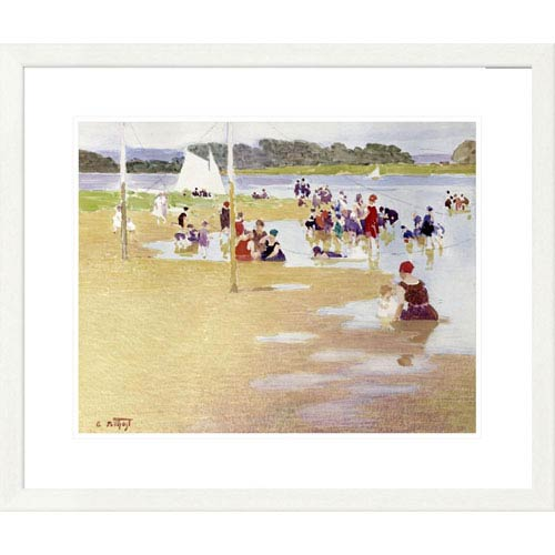 Global Gallery Bathers By Edward Henry Potthast, 25 X 30-Inch Wall Art