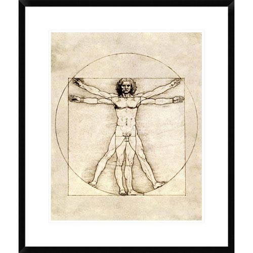 Global Gallery Proportions Of The Human Figure By Leonardo Da Vinci, 28 X 23-Inch Wall Art