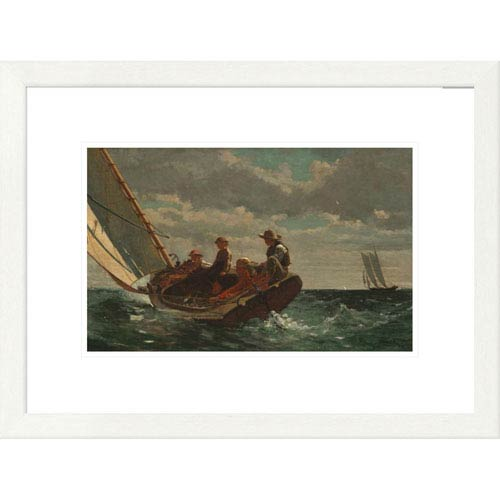Global Gallery Breezing Up By Winslow Homer, 18 X 24-Inch Wall Art