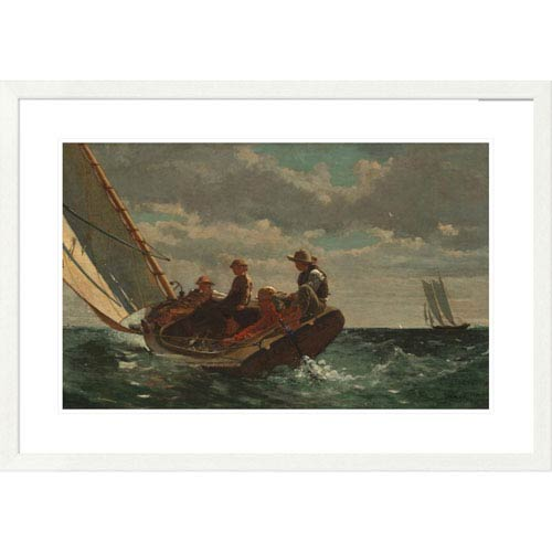 Global Gallery Breezing Up By Winslow Homer, 26 X 38-Inch Wall Art