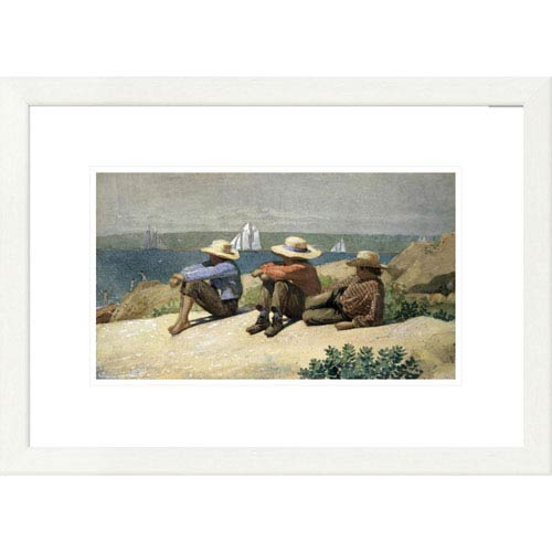Global Gallery On The Beach By Winslow Homer, 17 X 24-Inch Wall Art