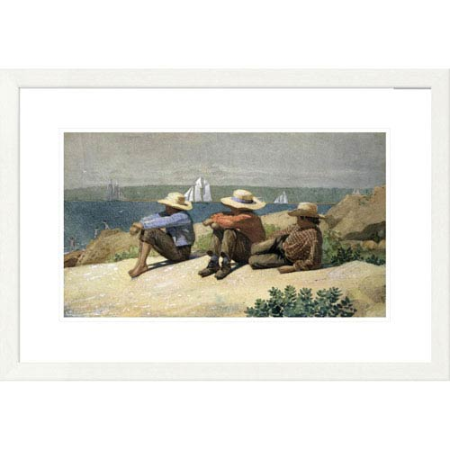 Global Gallery On The Beach By Winslow Homer, 20 X 30-Inch Wall Art